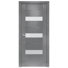 Дверное полотно Вена X-серый стекло сатин