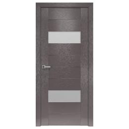Дверное полотно Женева X-мокко со стеклом сатин